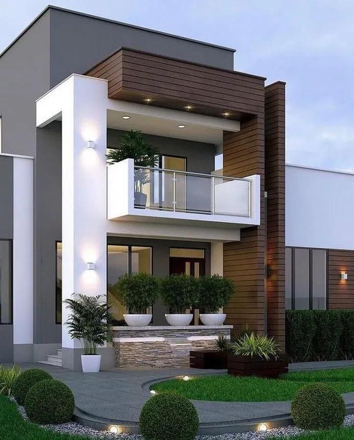 34 Modern Style House Design Ideas Inspiration Pictures To Inspire You 31 Facade House Duplex House Design Contemporary House Design
