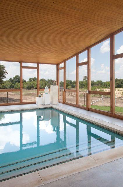 My Houzz An Animal Lover S Texas Sanctuary Small Indoor Pool Indoor Outdoor Pool Indoor Pool Design