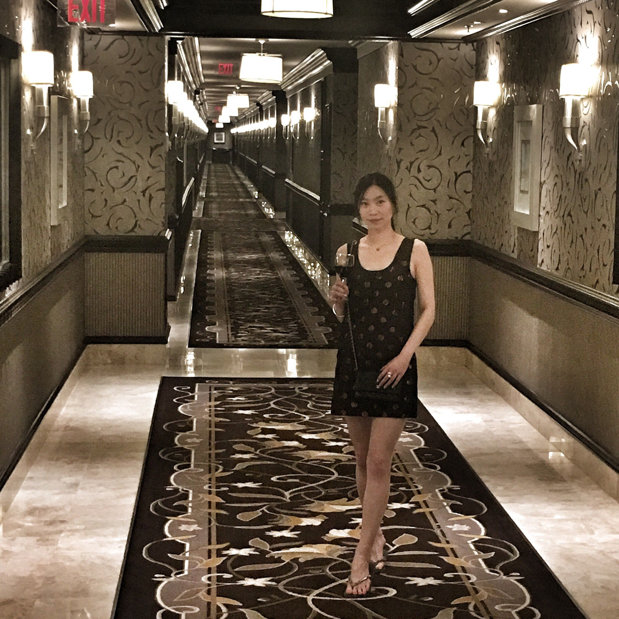 The Palms Apartments In Las Vegas: Endless Hallway On The Bellagio Hotel's Penthouse Floor
