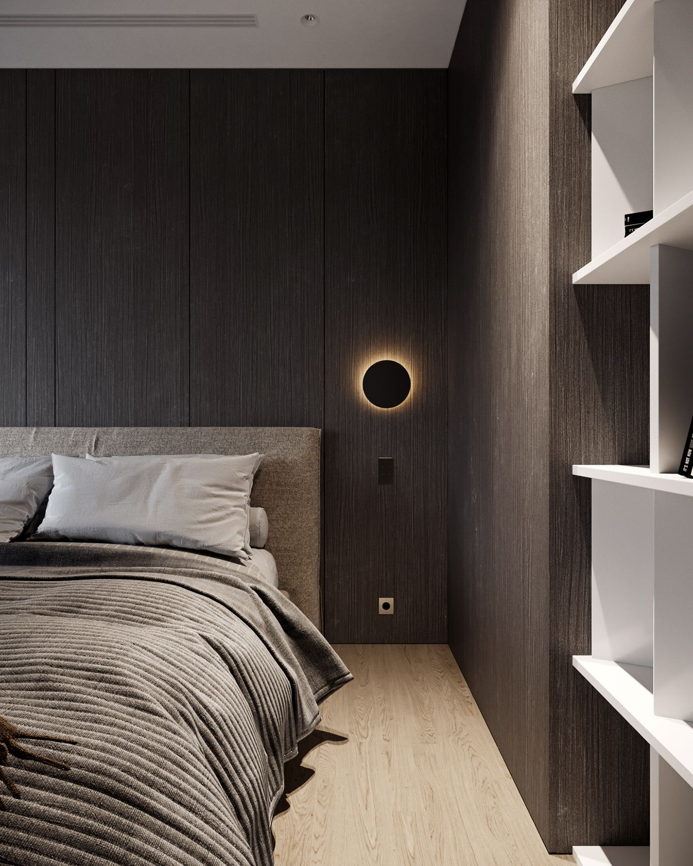 Bedroom In Contemporary Style On Behance: MOPS /Z_HOUSE 2nd Floor On Behance