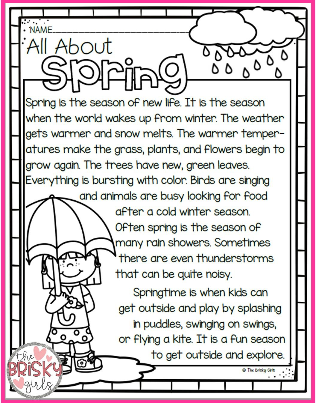 The Four Seasons Spring Summer Fall Winter Seasons Printables Seasons Reading Passages The Four Seasons Worksheets Reading Passages Seasons Kindergarten [ 1344 x 1056 Pixel ]