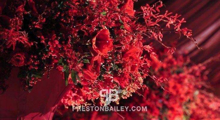 Preston Bailey ~ Red flowers.