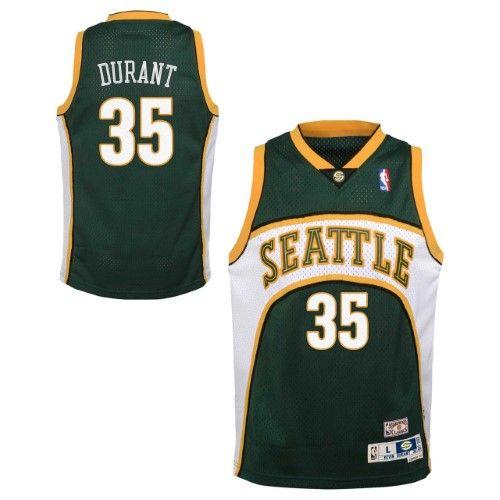 reputable site f4e05 c3436 Seattle Supersonics Youth Kevin Durant NBA Soul Swingman ...