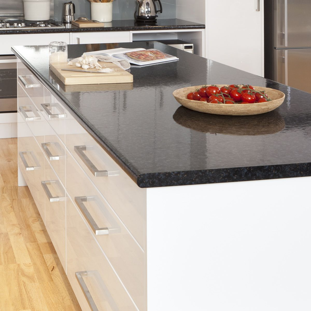 Kitchen Kaboodle Furniture Keep Your Kitchen Drawers Contemporary With Our Luminess Metallic