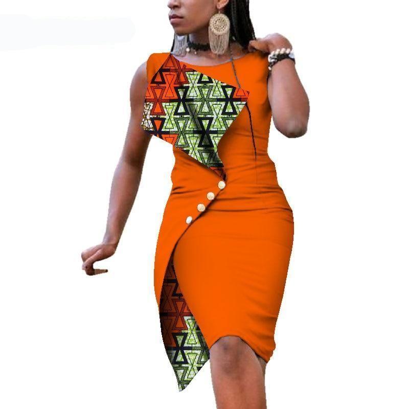 22ac257b62b01 Sleeveless elegant african print cotton dress in 2019 | VNCY'S ...