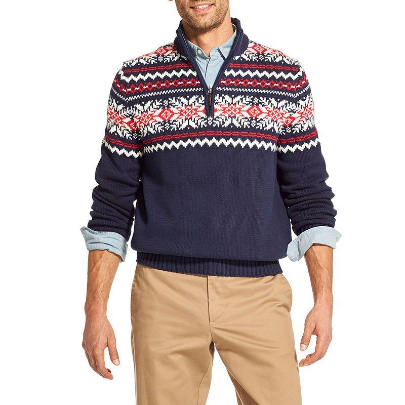 f3721446e594 IZOD Fairisle Quarter-Zip Sweater in 2018   Products   Pinterest ...