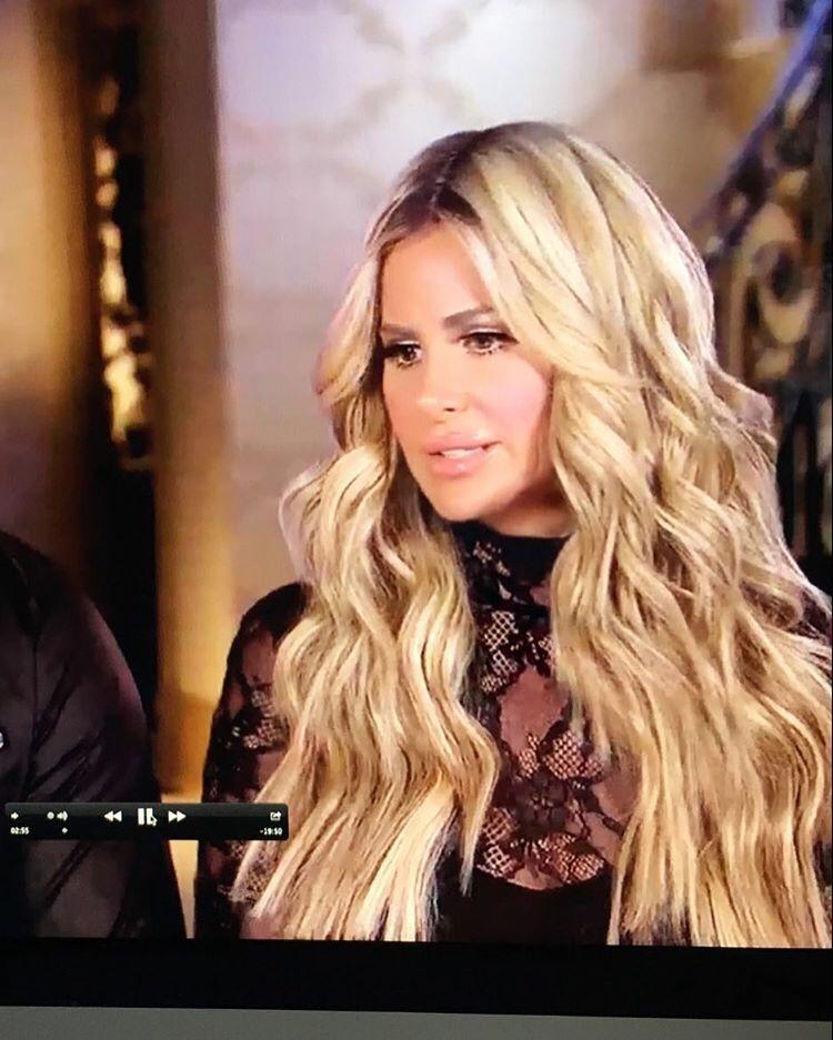 Kim Zolciak Marriage Daniel Toce Dont Be Tardy Jpg 750 937 Kim Zolciak Bridal Hair Hair