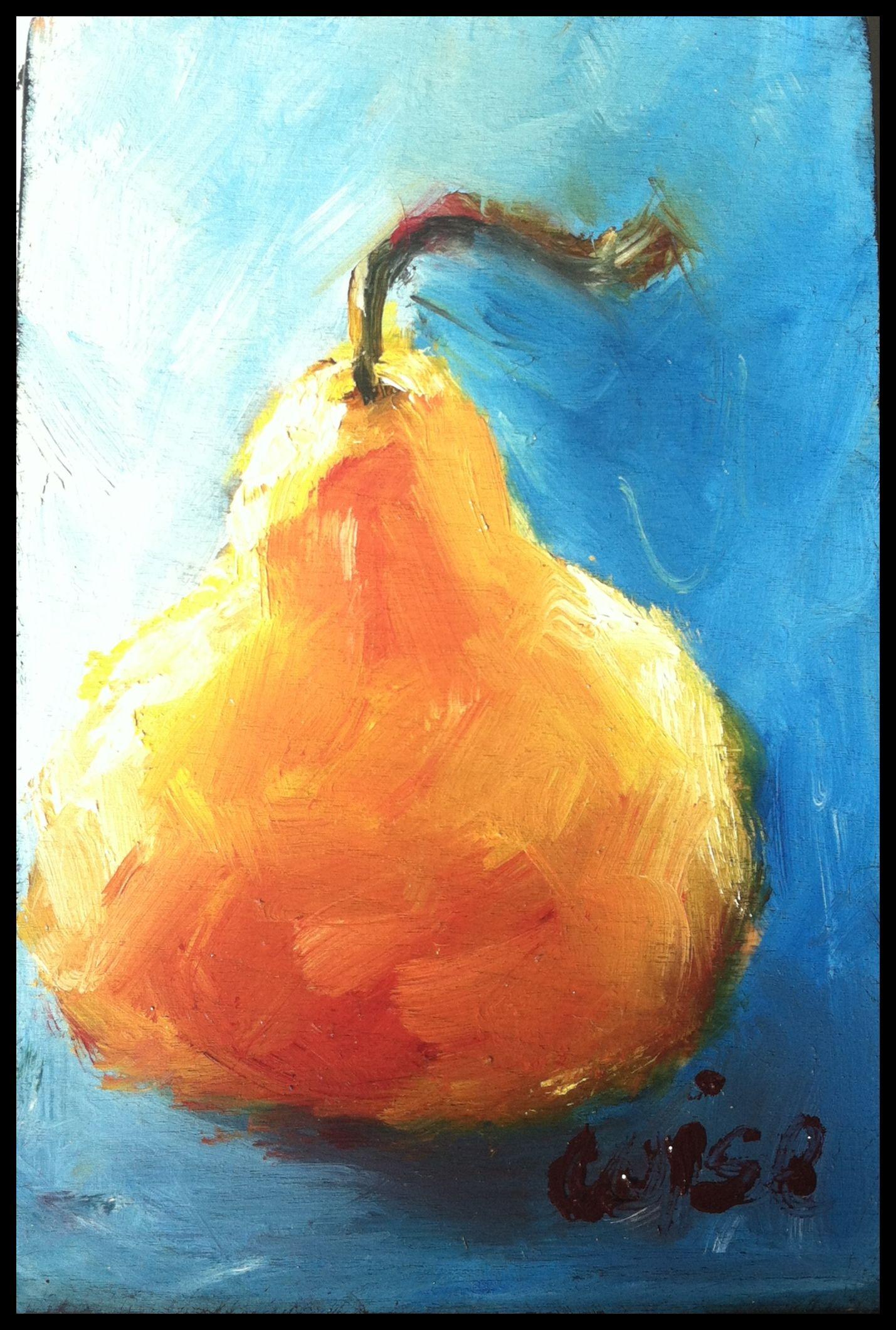 Blue & Pear ~ Josey Wise Fine Art