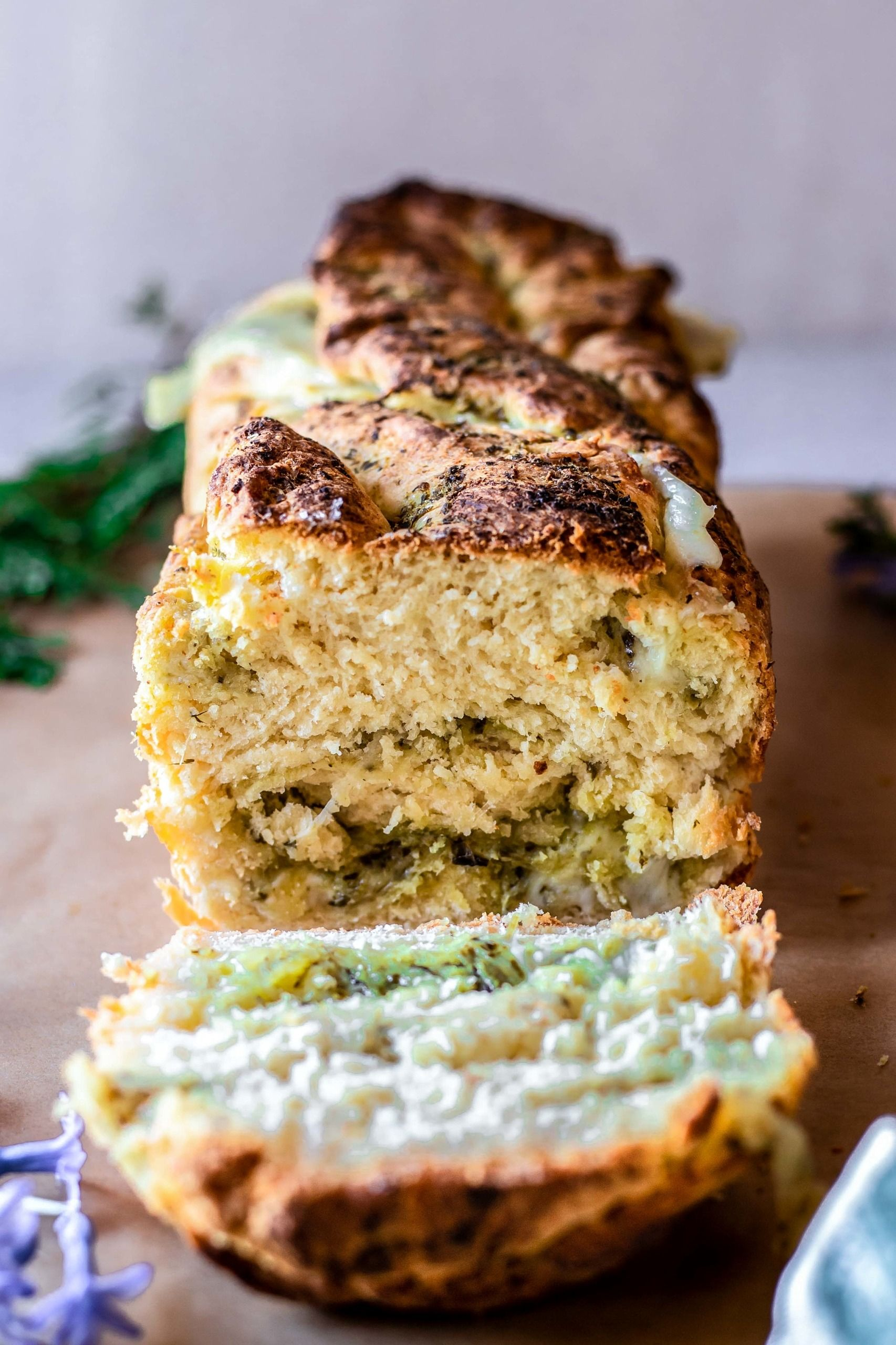 Gluten Free Mozzarella And Pesto Stuffed Bread Low Fodmap Recipe In 2020 Real Food Recipes Fodmap Recipes Food