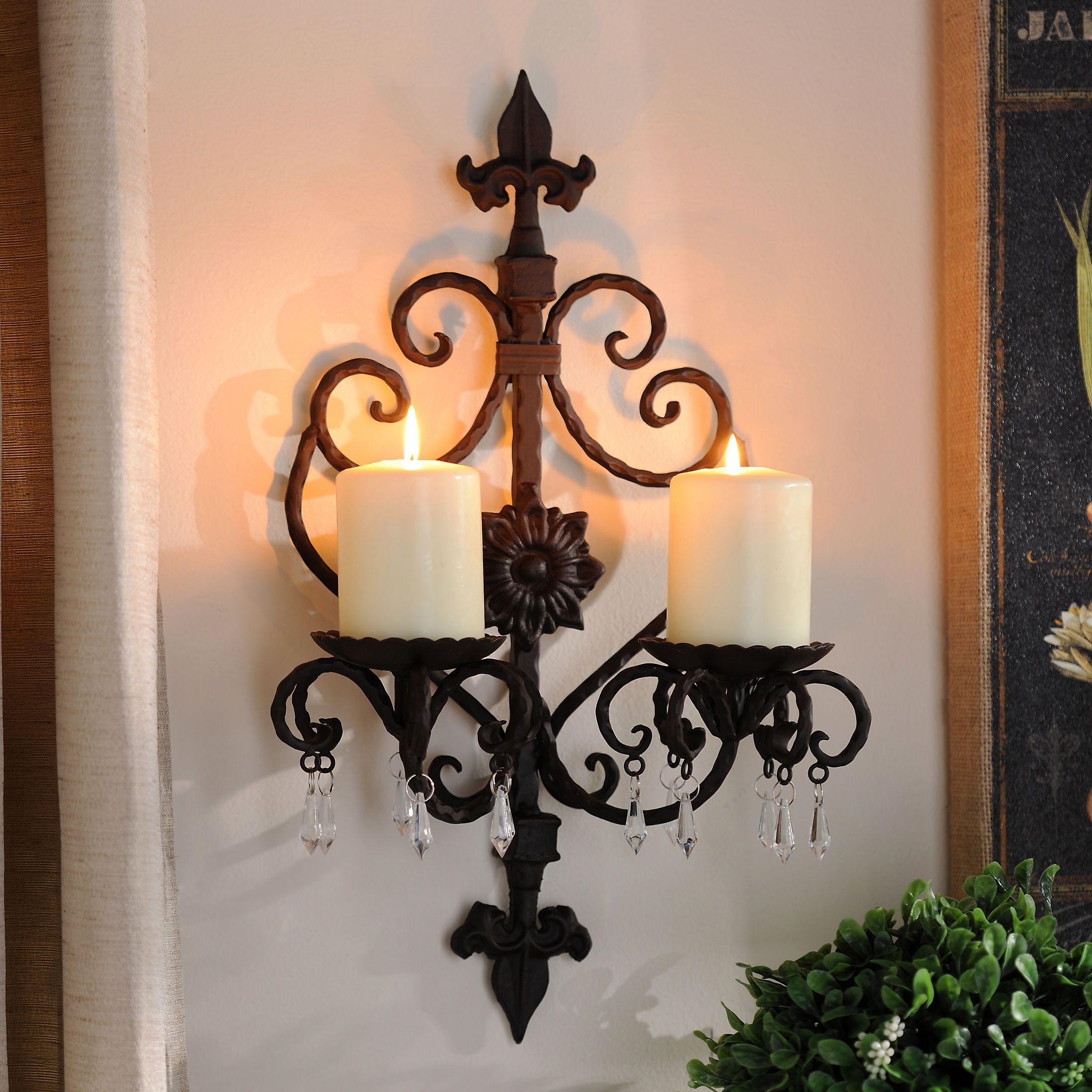 Kirkland S Candle Wall Sconces Candle Sconces Iron Wall Decor