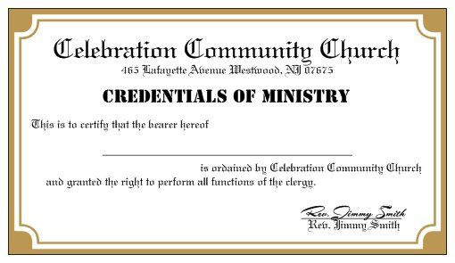 Become a legally ordained minister online