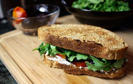 Roasted beet sandwich with goat cheese.  Here's to hoping that it's as fantastic as the one at Three Sister's Cafe :)