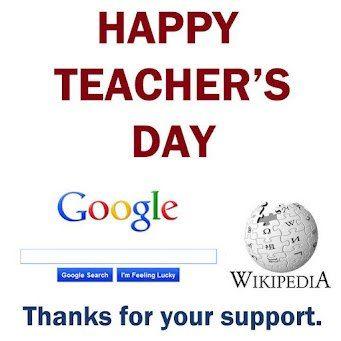 Happy Teachers Day! #Google #Wikipedia | SEO Humor | Happy