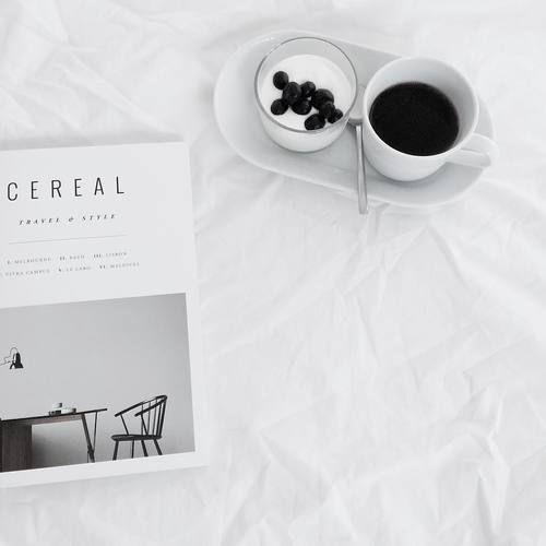 Imagen de coffee, magazine, and minimal