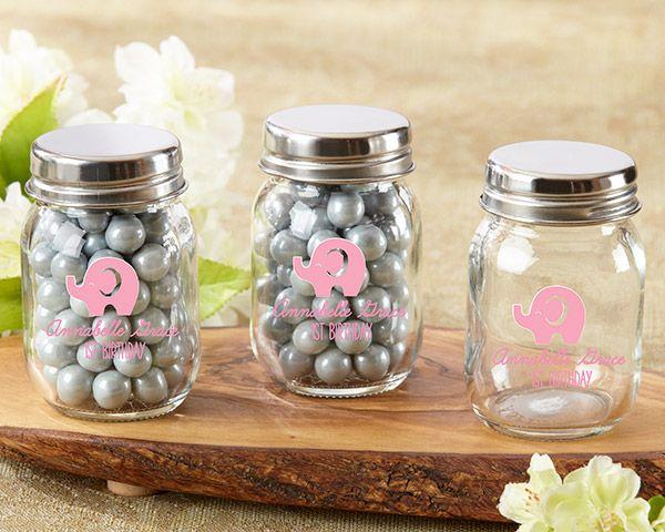 Baby Shower Favors · Mini Glass Mason Jars ...