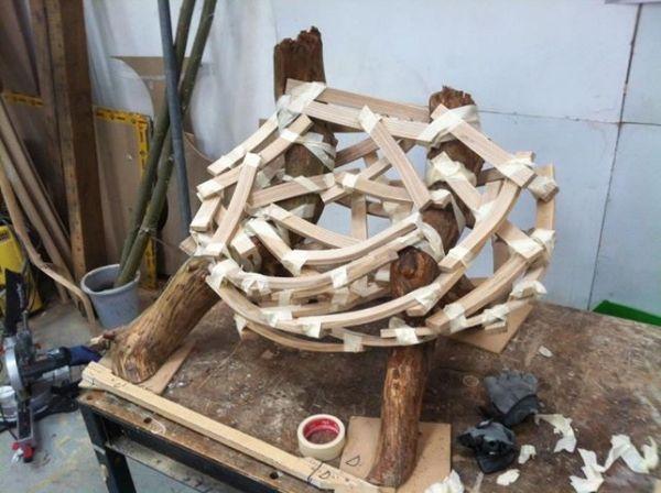 Durch ein Nest inspirierter Designer Sessel \u201c Eyrie\u201d von Floris - designer hangesessel satala fuss
