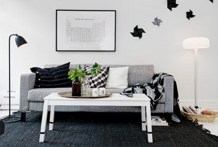 decoracin en blanco negro y gris - Tabla Periodica A Blanco Y Negro
