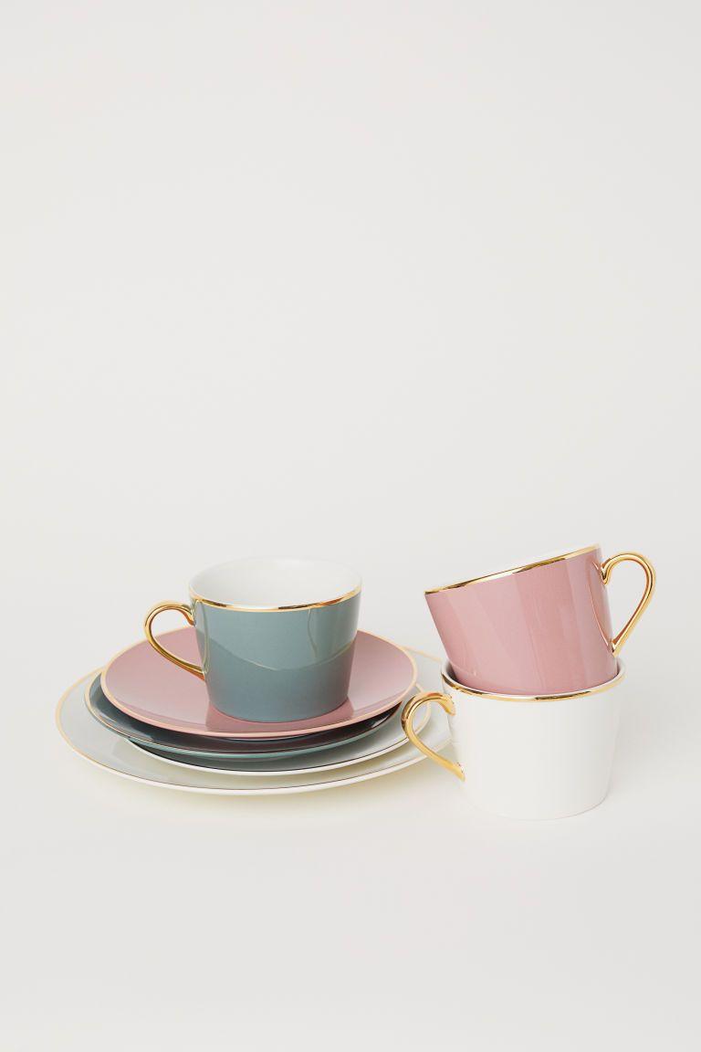 Porcelain Cup Pink Home All H M Us Porcelain Cup Porcelain Porcelain Plates