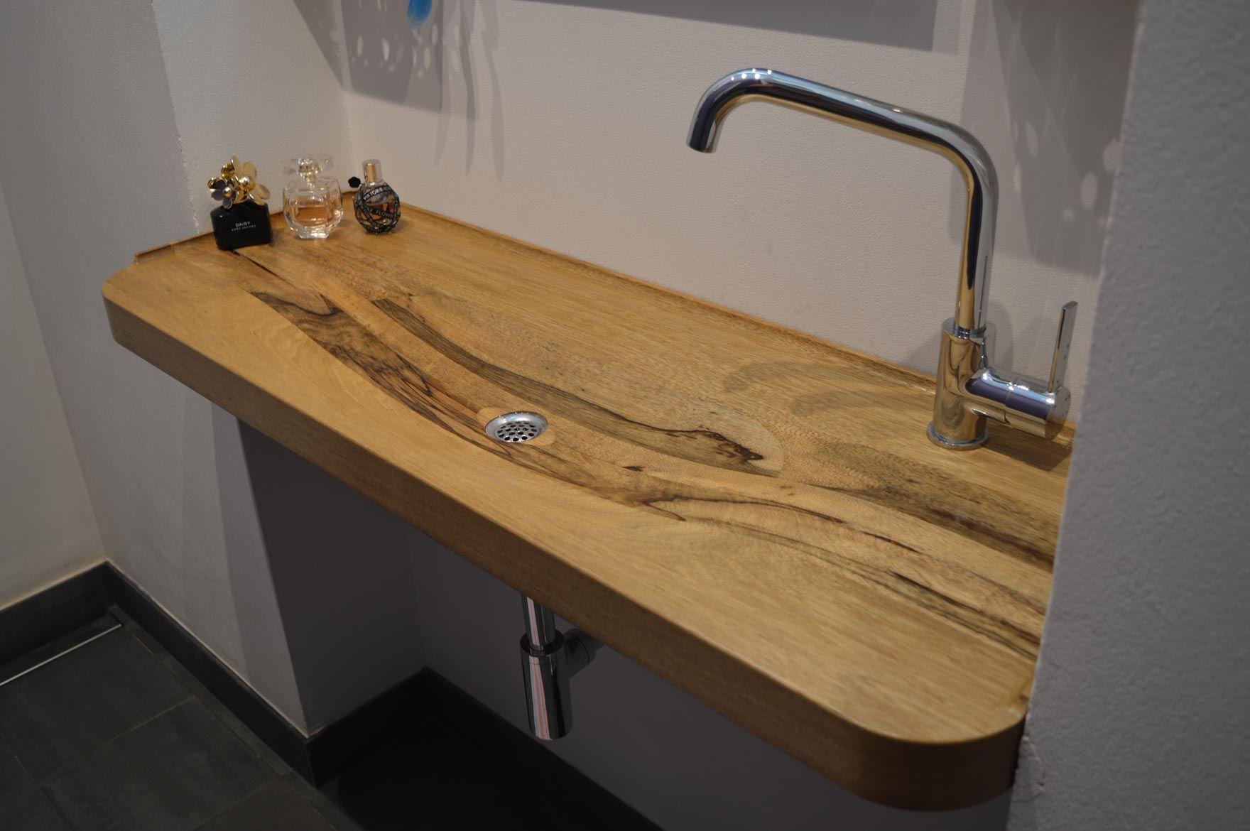 Wastafel Op Maat : Houten wastafel op maat in kleine amsterdamse badkamer interior