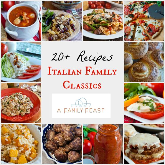 A great collection of more than 20+ recipes of Italian Family Classics!  Mangia!!