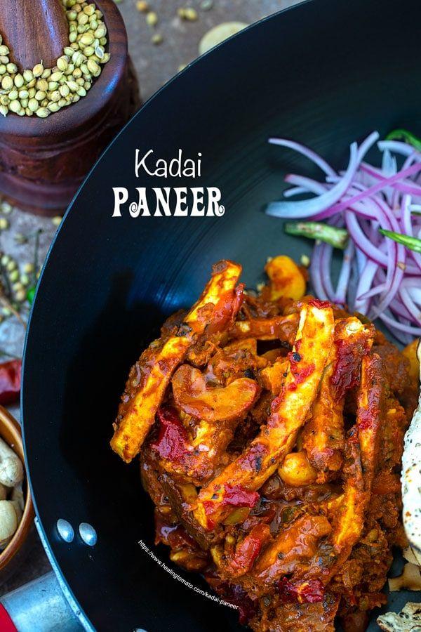 homemade kadai paneer recipe restaurant recipes indian food recipes food recipes on hebbar s kitchen kadai paneer id=68150