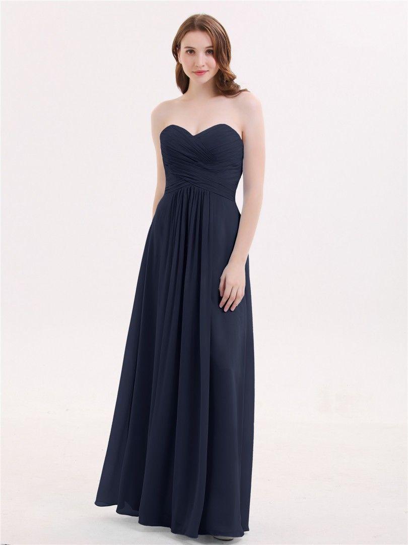 4ba5d3fd7b0 Babaroni Janice Strapless Chiffon Gown with Sweetheart