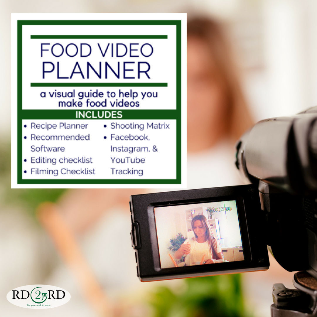 Food Video Planner With Images