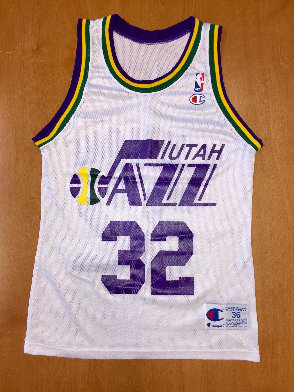 66ec74378e7a Vintage 1991 - 1994 Karl Malone Utah Jazz Champion Jersey Size 36 pete  maravich adrian dantley andrei kirilenko new orleans nba finals byu by ...