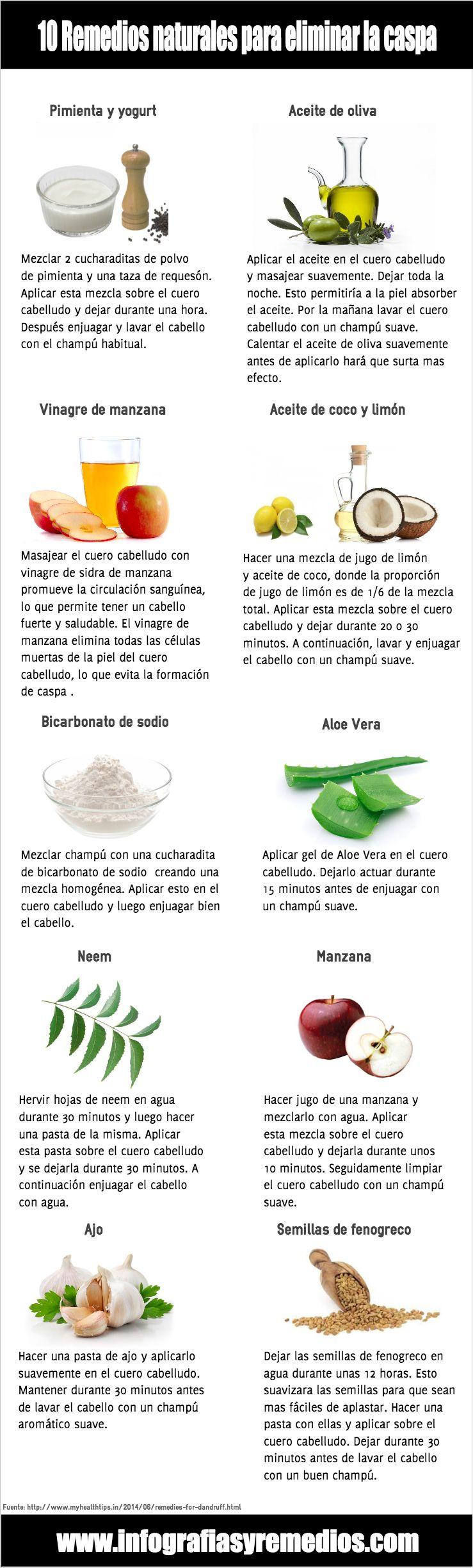 tratamientos para quitar la caspa naturales