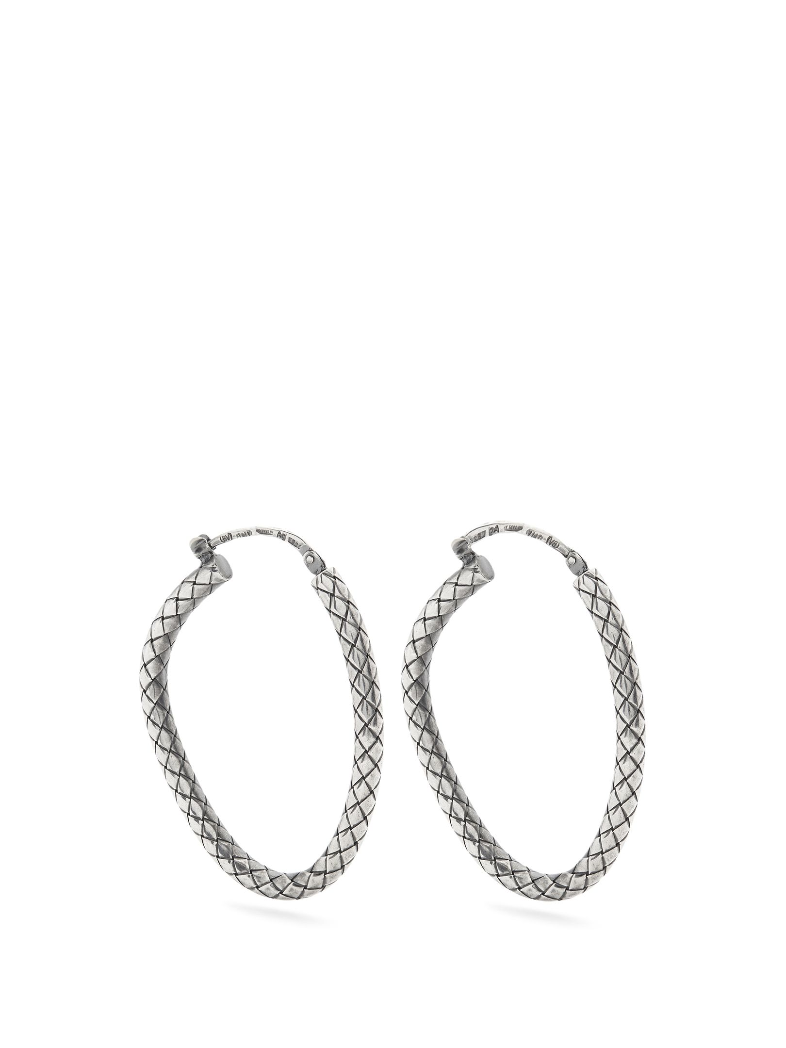 Intrecciato-engraved hoop earrings Bottega Veneta B8b3Z