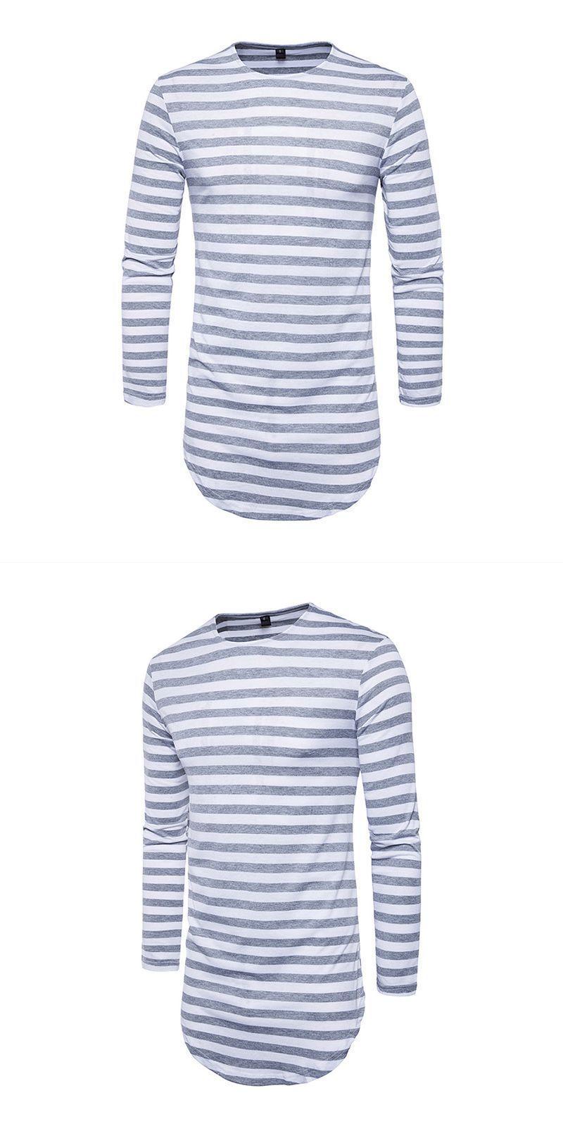 3cb6e07b908 Wholesale four colors available men cotton long sleeves stripes printed t- shirt  man