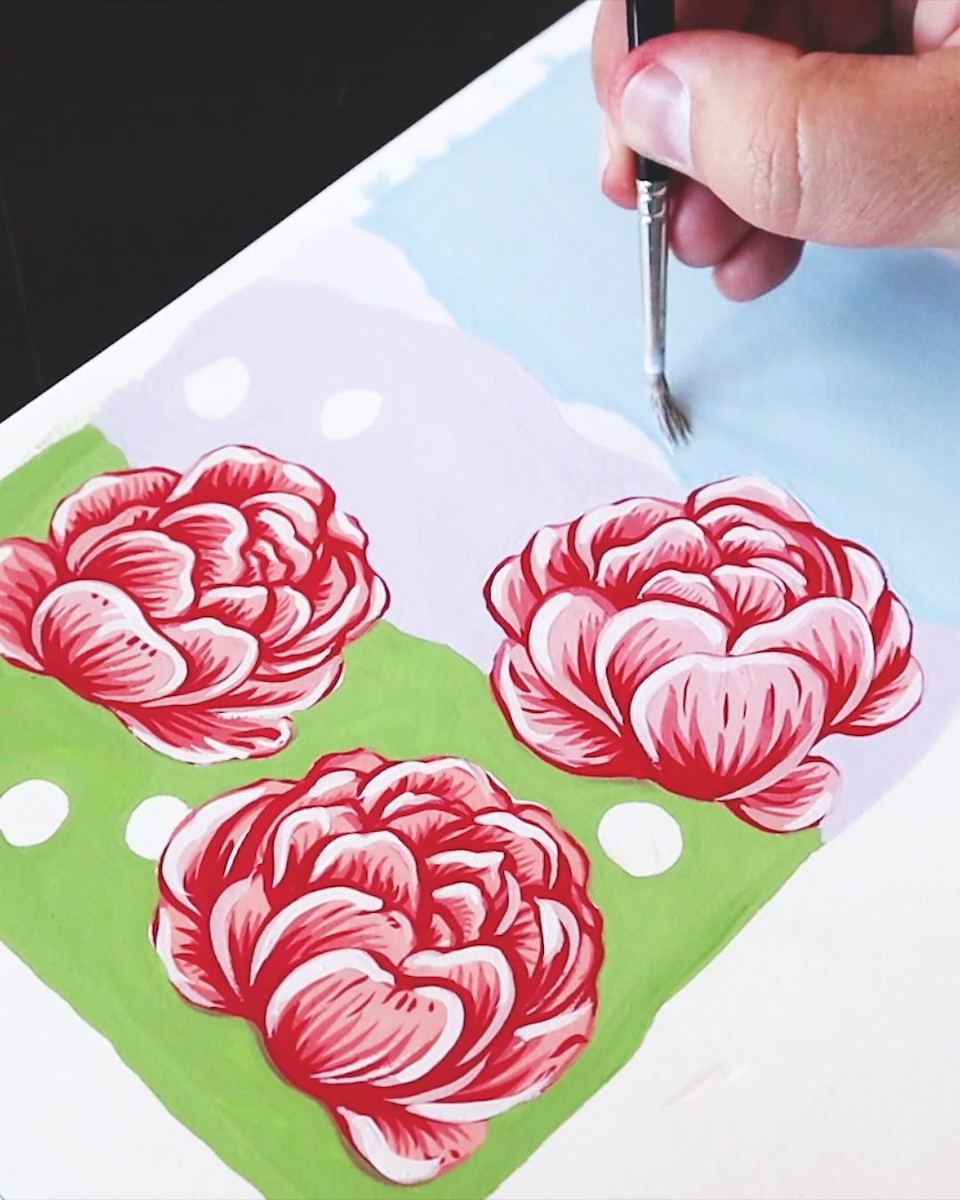 Painting Peonies by Philip Boelter
