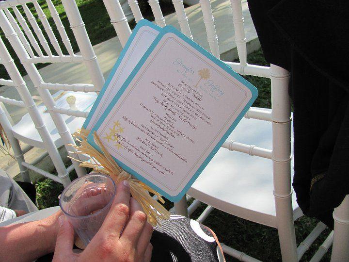 Lloyd Beach Wedding Paddle Fan Programs