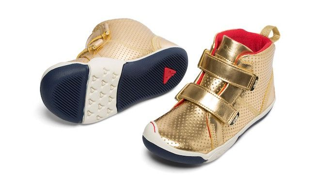 These metallic shoes for kids are