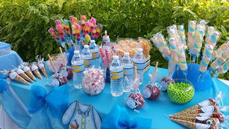Mesa de dulces sencillas dise os para fiestas y arreglos for Mesa de dulces para baby shower nino