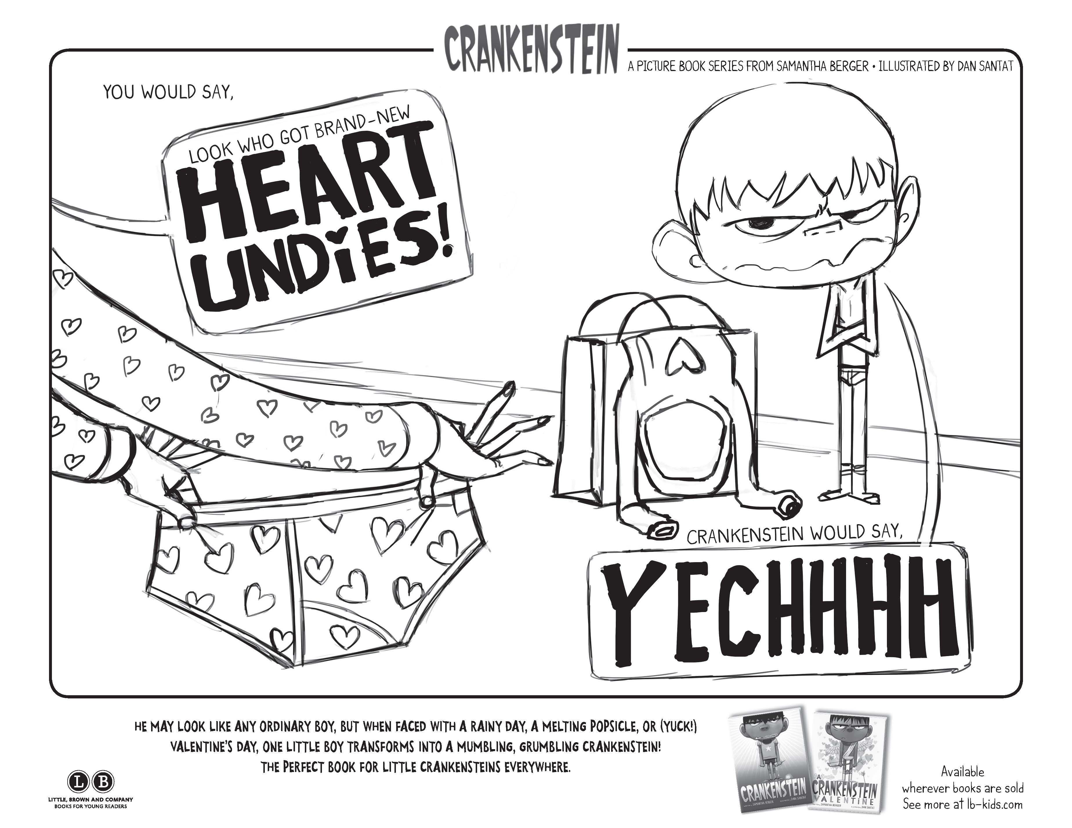 A Crankenstein Valentine coloring page | Activity Kits | Pinterest ...