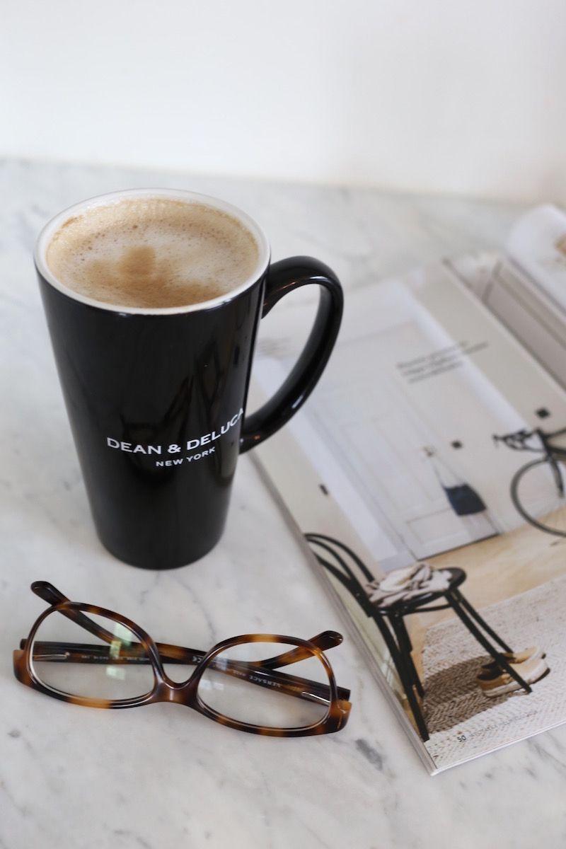 Homevialaura | Dean & DeLuca | coffee | tortoise eyeglasses | interior magazine