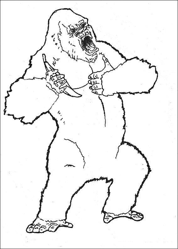 Animales para colorear: Gorilas | coloring 6 | Pinterest