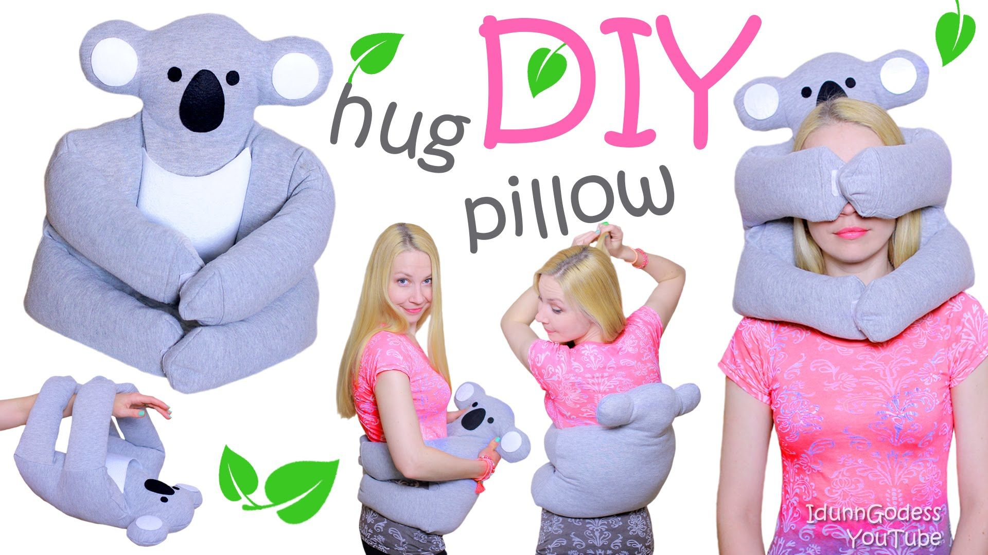 From this video tutorial you'll find out how to make a multifunctional hug pillow yourself. And the most hugging animal is koala bear - so take your old grey...