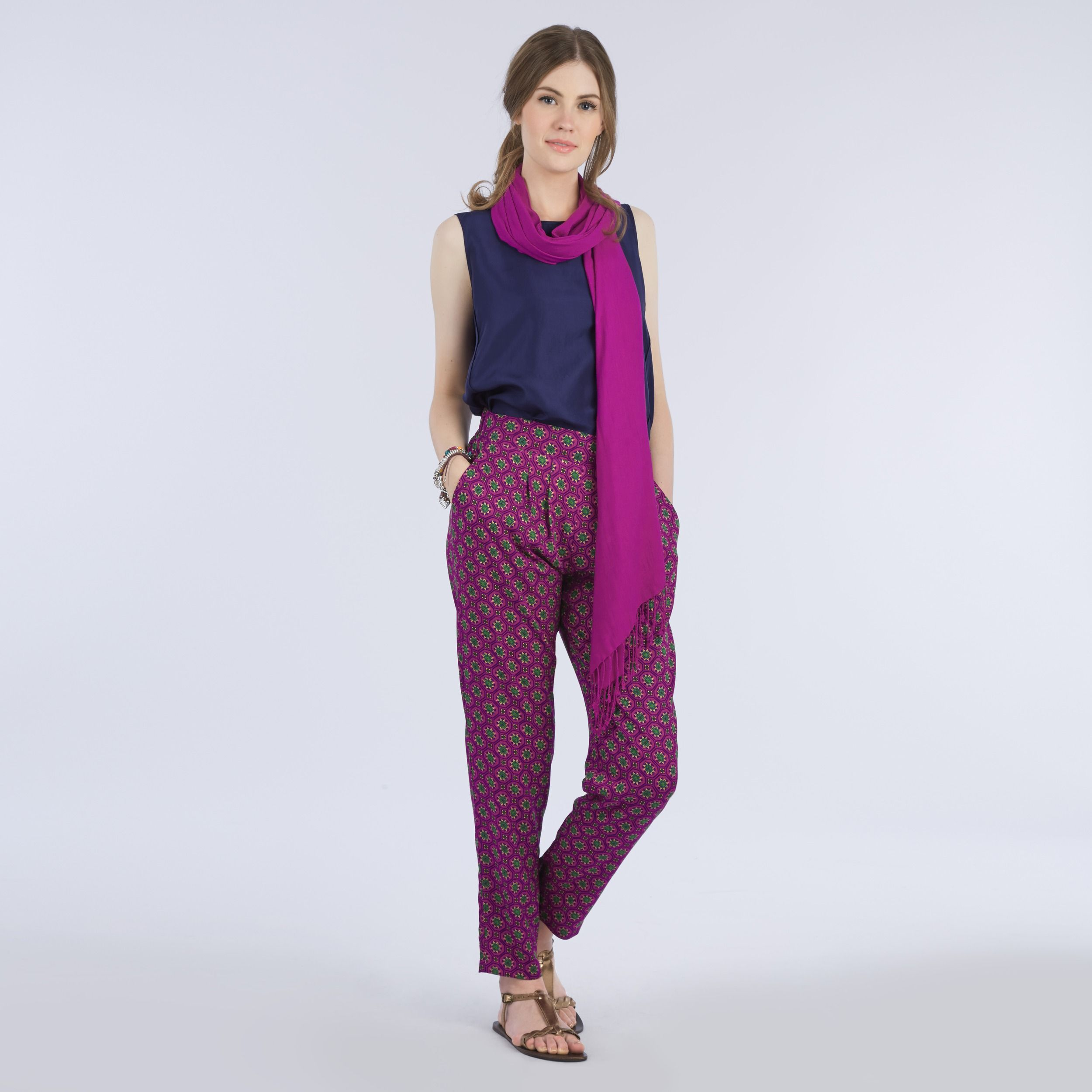 Mosaic Print Relaxed Trousers. How amazing are these?! #LauraAshley ...