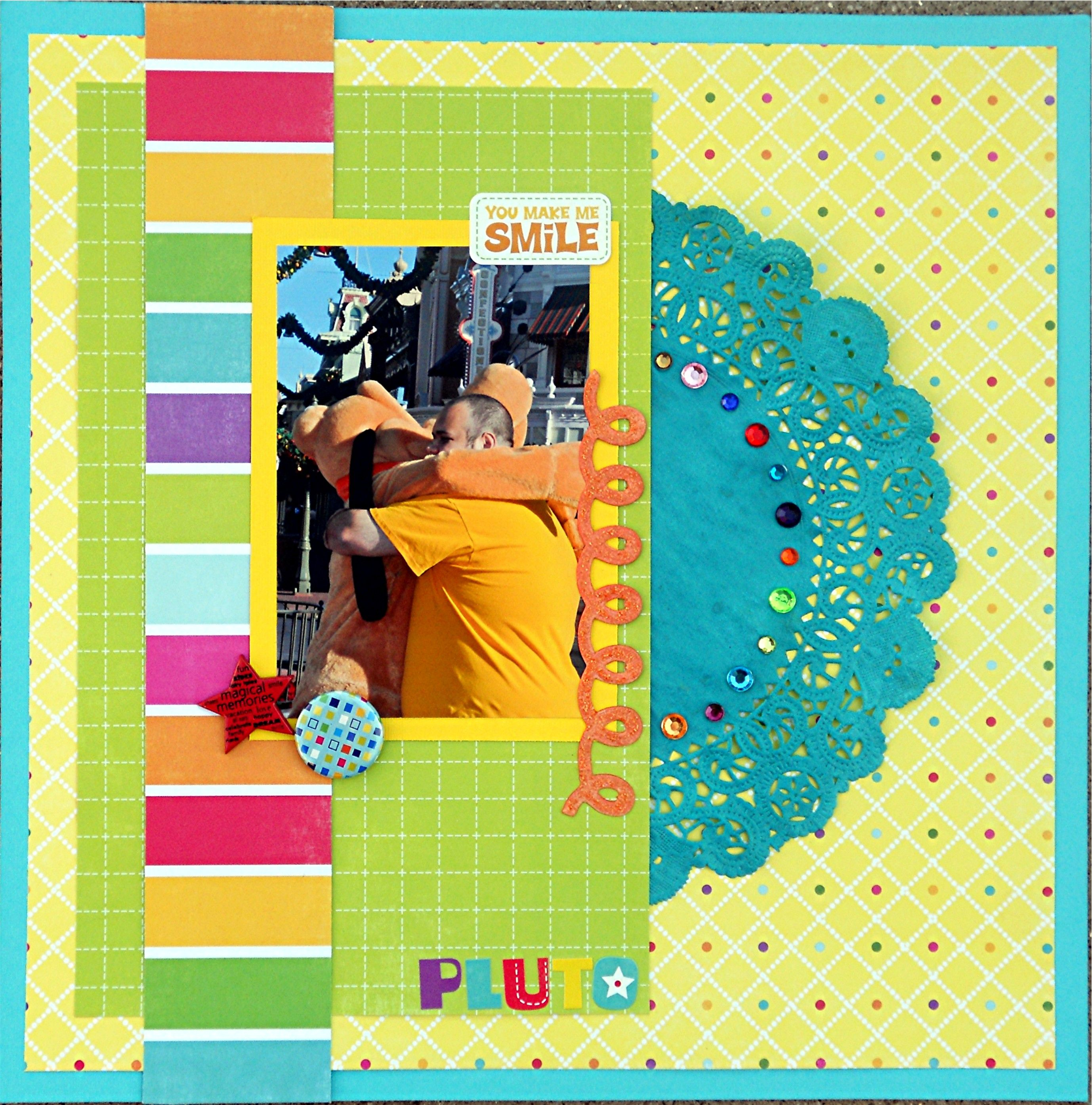 Pluto Scrapbooking layouts