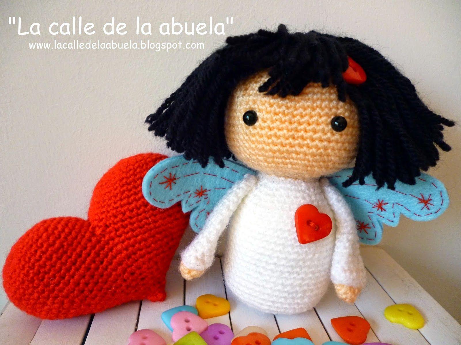 La calle de la abuela. Mi pequeño angelito amoroso | Crochet Dolls ...