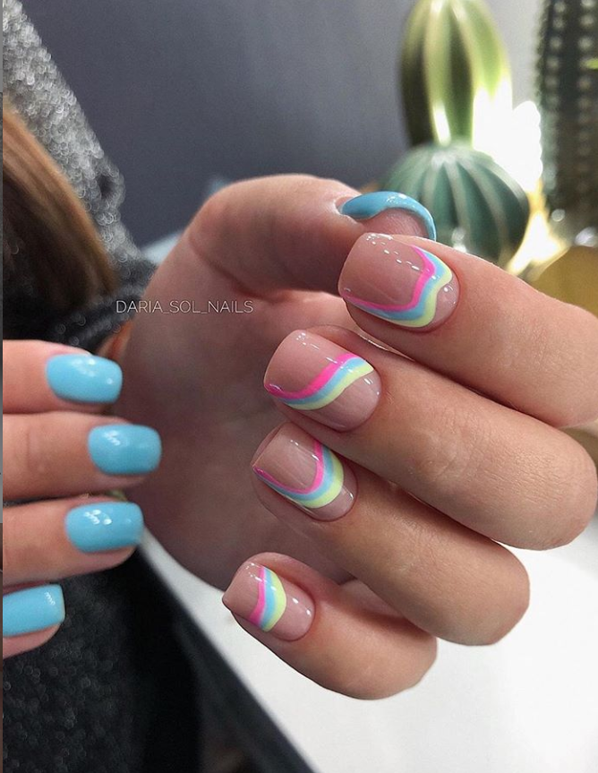130+ Beautiful Manicure Nails For Short Nails Design Ideas – – Nails Design