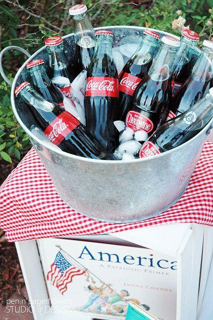 Patriotic Beverages...#cheerwine and #cocacola