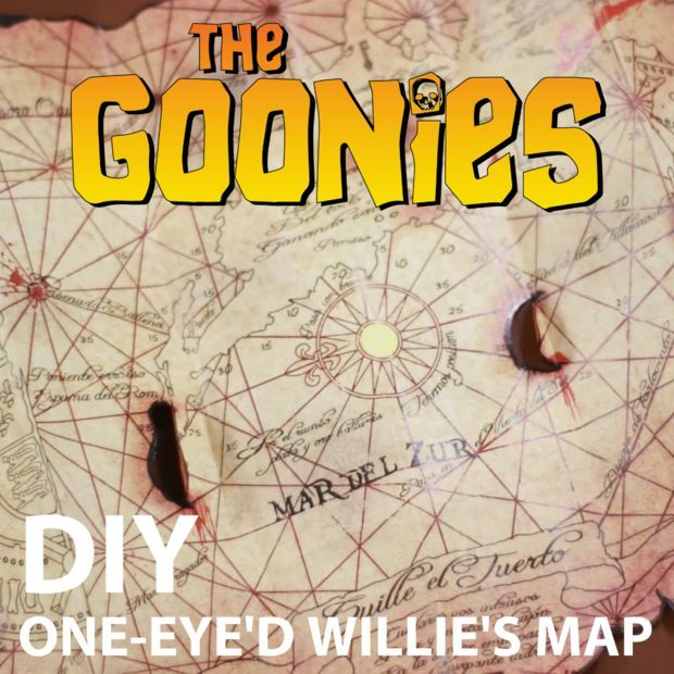 The Goonies One-Eyeu0027d Willyu0027s Map Replica Craft - sample conduit fill chart