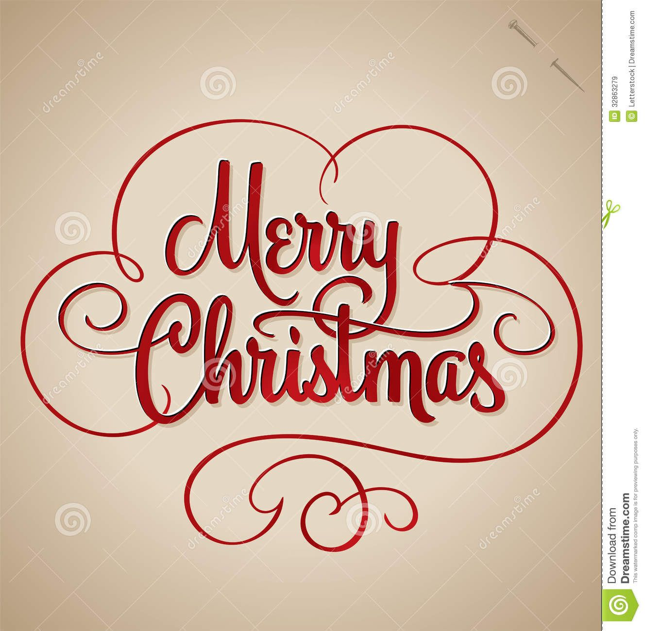 Merry Christmas Hand Lettering (vector) Download From