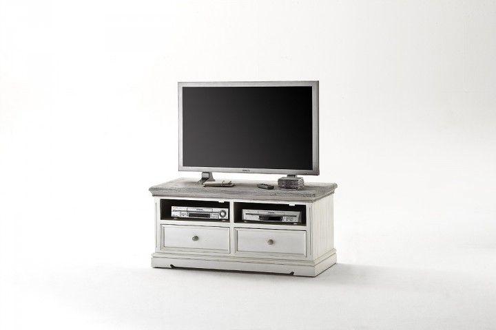 Rustikale weiße TV Kommode Elsa I #weiß #möbel #wohnzimmer - mobel weis wohnzimmer