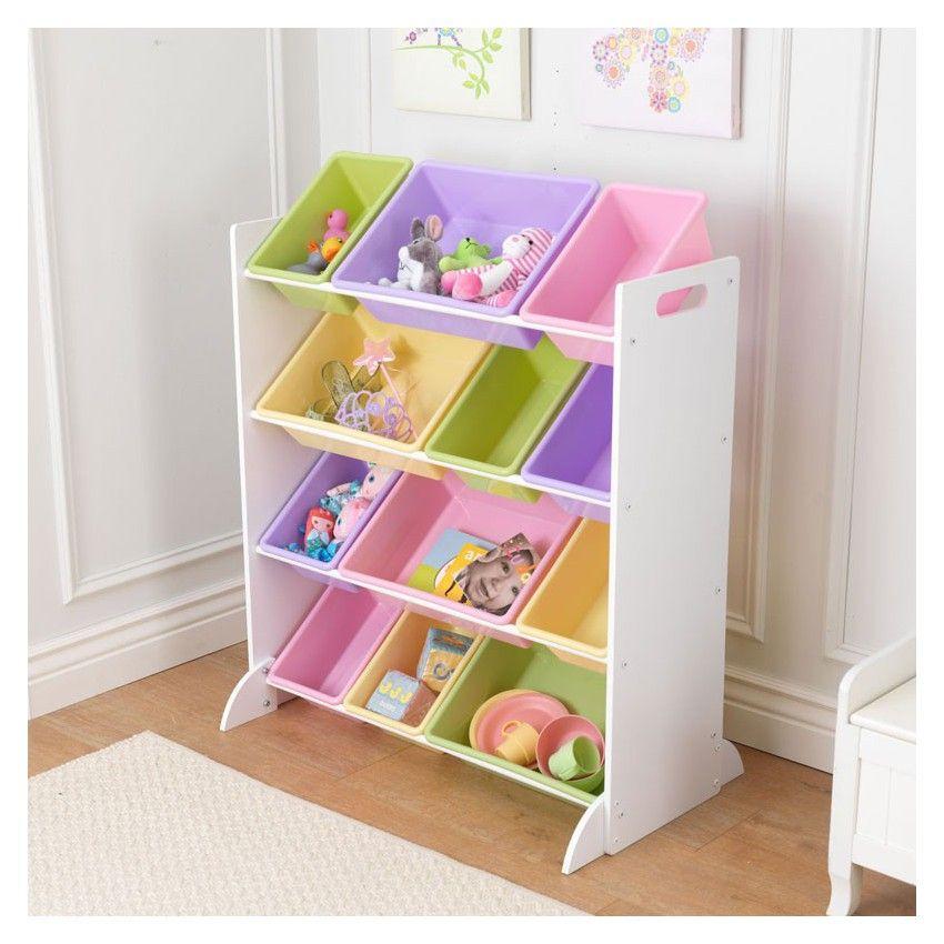 Meuble avec Bacs de rangement pastels (avec images) | Meuble rangement enfant, Meuble rangement ...