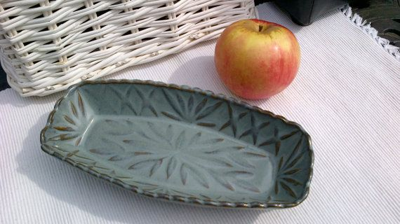 RARE McKee Jadite 1 lb. Butter Dish with Enamel CoOp
