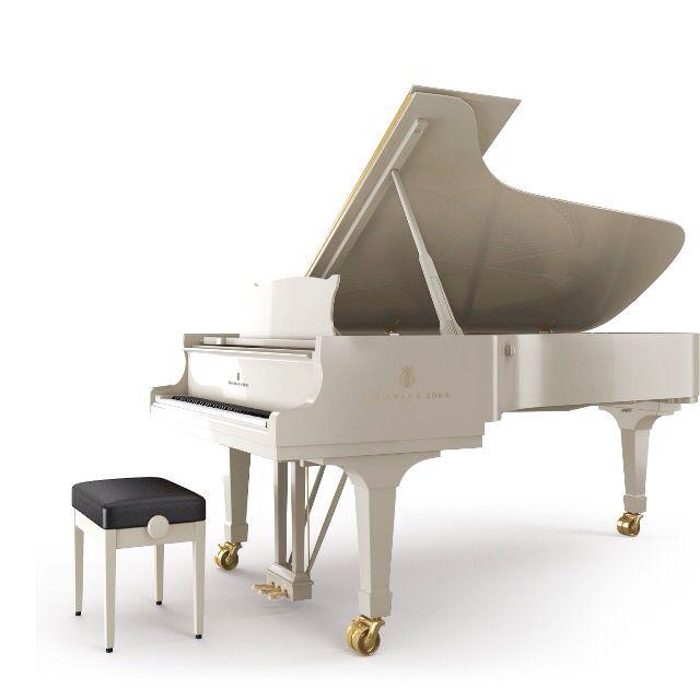 Ivory White Steinway Sons Grand Piano Piano Grand Piano Living Room Piano Living Rooms